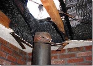 An inspection of this improper vent pipe could have prevented such a house fire.