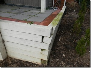 Leaning Retaining Wall Zink Home Consultants