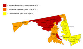 Radon in Maryland