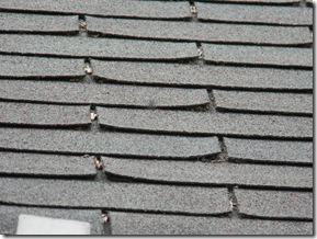 Home Inspection revealed warped shingles